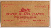 Leitz Cover Glass Plates - Click to go to All Photos & Photography