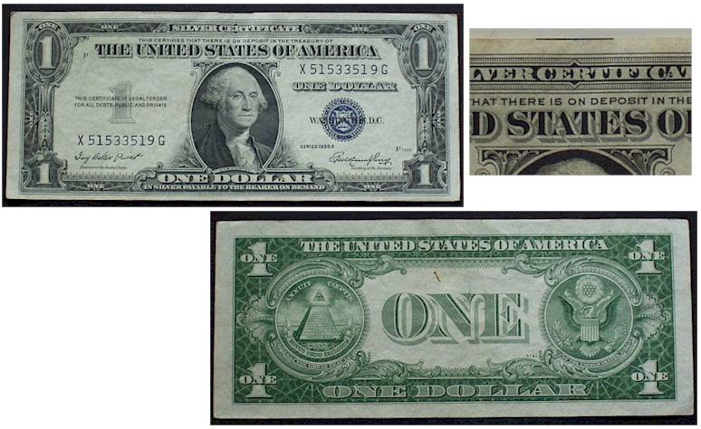 Stamps - Paper Money - Silver Certificates