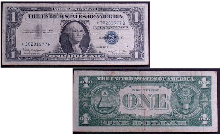 Stamps Paper Money Silver Certificates