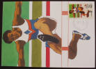 1984 Olympic Games Postcard - Hurdler - Click for more photos